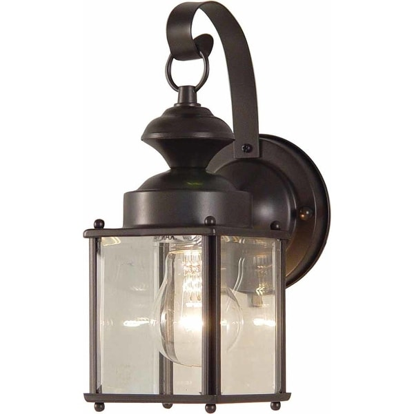 "Volume Lighting V9271 1-Light 11"" Height Outdoor Wall Sconce with Clear Glass - Antique Bronze - N/A"