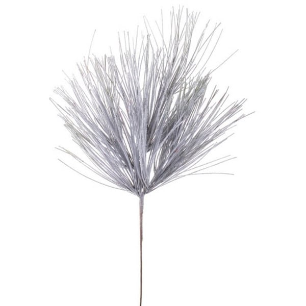 Club Pack of 12 Artificial White Long Needle Snowy Pine Christmas Sprays 30""