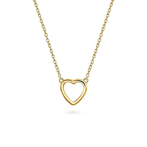 Shop Small Simple Minimalist Heart Pendant Necklace For Women For