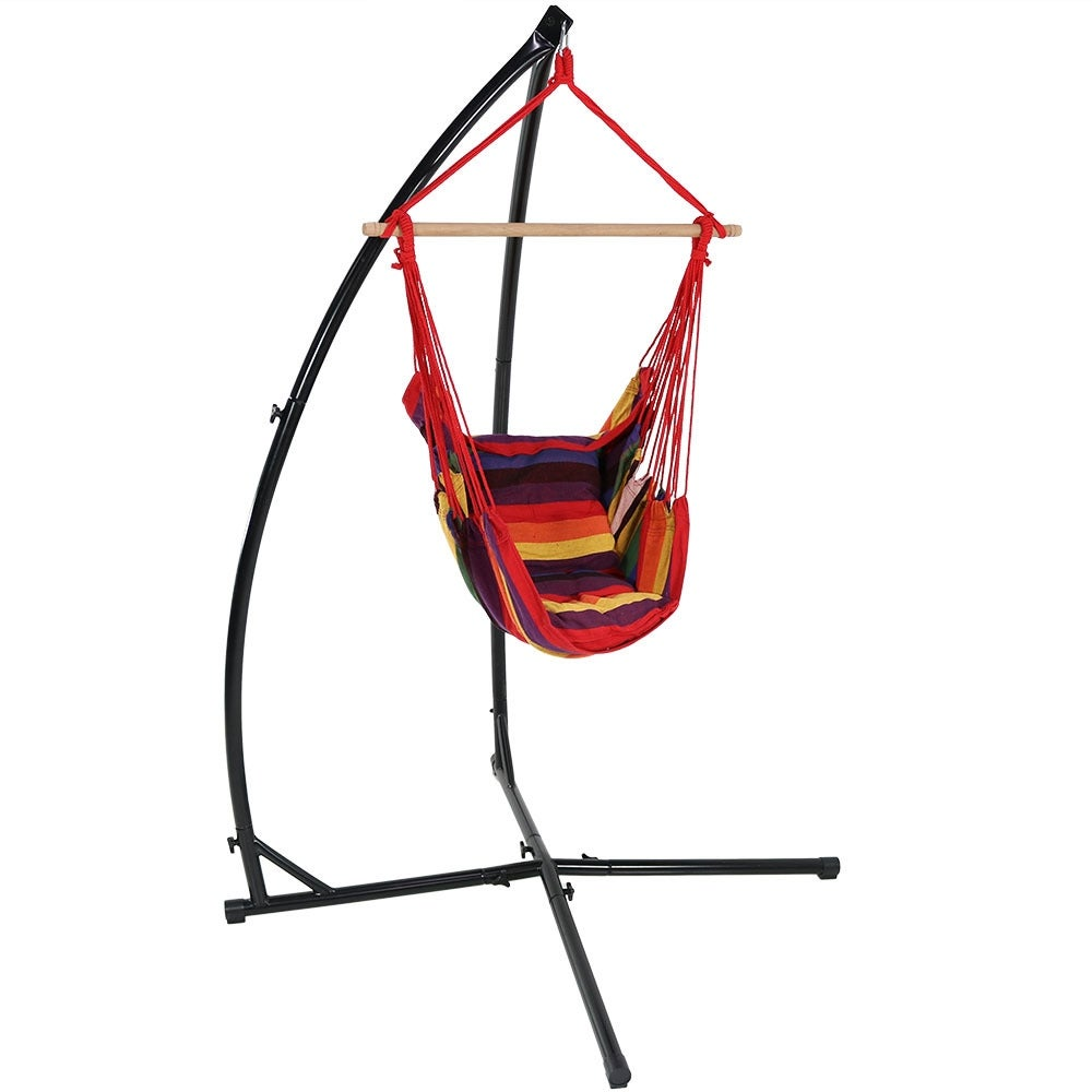 Sunnydaze Durable X-Stand and Hanging Hammock Chair Set or X-Chair Stand ONLY - You Choose - Thumbnail 32