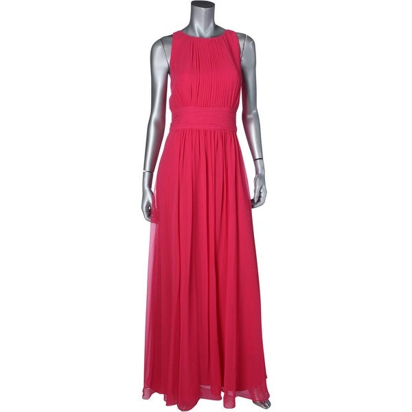 Lauren Ralph Lauren Womens Evening Dress Georgette Sleeveless