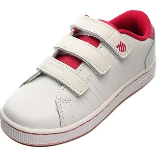 K-Swiss Lozan 3-Strap Youth Round Toe Synthetic White Sneakers
