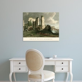Easy Art Prints T. Allom's 'Remains of Priory, Haverford West' Premium Canvas Art