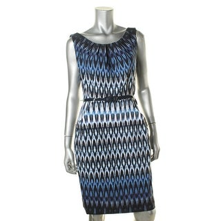 Connected Apparel Womens Printed Sleeveless Casual Dress - 10