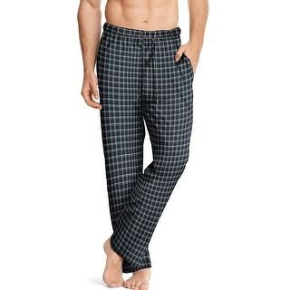 Hanes Men's ComfortSoft® Cotton Printed Lounge Pants - Size - 2XL - Color - Black Windowpane