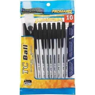 Kittrich Corp Stationary 10Pk Blk Tcbp Stick Pens BP48-KR1P10-48 Unit: EACH Contains 12 per case