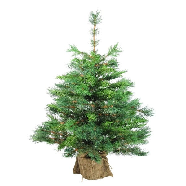 "36"" Rosemary Spruce Artificial Christmas Tree in Burlap Base - Unlit - green"