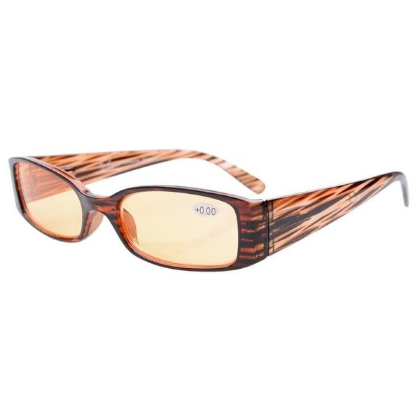 Eyekepper Spring Hinge UV Protection,Scratch Resistant Computer Reading Glasses Women Brown Stripe +2.5