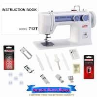 Janome 712T Treadle Sewing Machine with Exclusive Bonus Bundle