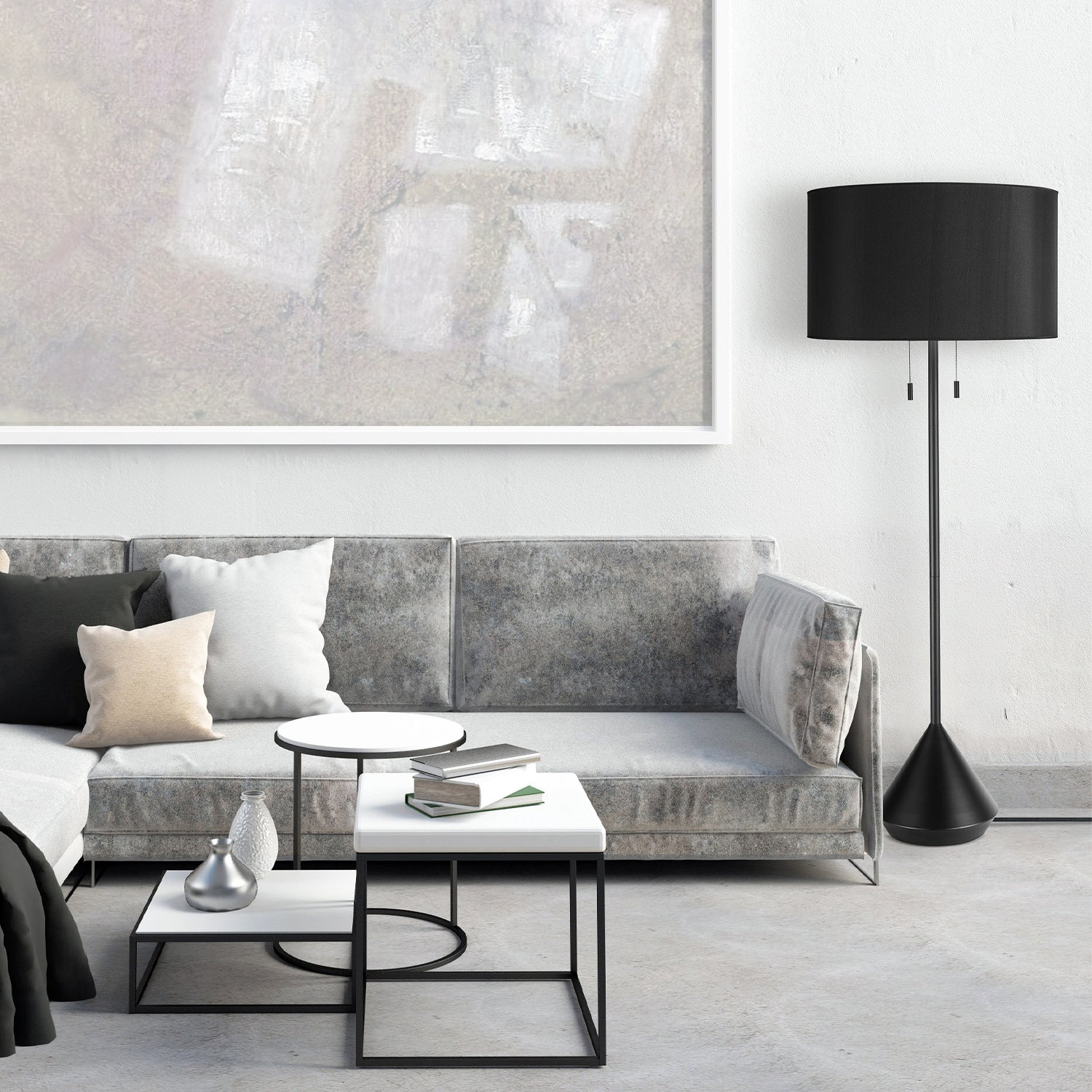 Shop Kara 60 2 Light Black Floor Lamp With Cec Title20 Led Bulbs Included Overstock 32234276