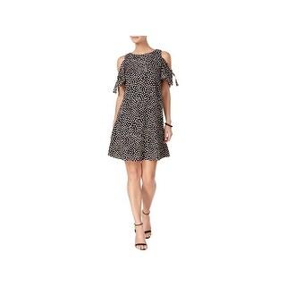 Jessica Howard Womens Petites Casual Dress Printed Cold-Shoulder - 4P