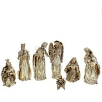 Glitter Nativity Set of 7
