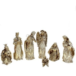 Glitter Nativity Set of 7