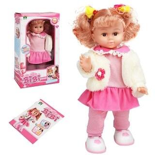 Costway 18'' Interactive Baby Doll Intelligent Lifelike Walking Dancing Mobile Control