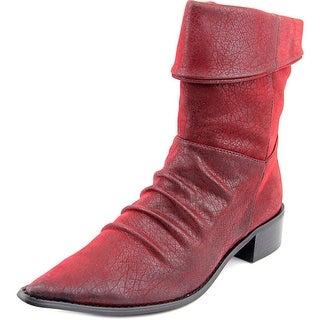 Chinese Laundry Windstar Women Pointed Toe Leather Red Ankle Boot