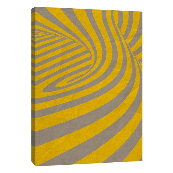 """PTM Images 9-109008 PTM Canvas Collection 10"""" x 8"""" - """"Yellow Swirls D"""" Giclee Abstract Art Print on Canvas"""