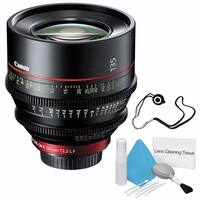 Canon CN-E 135mm T2.2 L F Cinema Prime Lens (EF Mount) (International Model) + Lens Cap Keeper Bundle