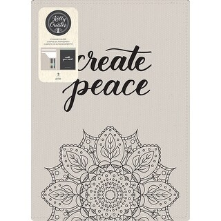 """Kelly Creates Storage Folder 9.5""""X12.5""""-Canvas Cover + 35 Blank Pages"""