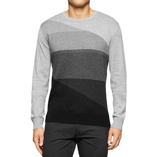 Calvin Klein Mens Big & Tall Pullover Sweater Heathered Ribbed Trim