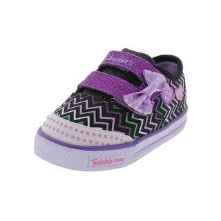 Twinkle Toes by Skechers Girls Shuffles Ziggy Funk Casual Shoes Glitter  Heart - 4 medium (