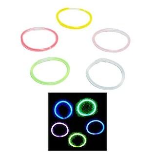 "Rhode Island Novelty 8"" Assorted Glow Bracelets Childrens Pretend Play"