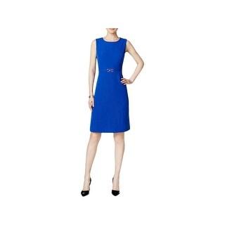 Kasper Womens Wear to Work Dress Embellished Sleeveless