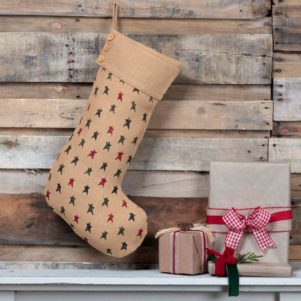 Primitive Star Jute Stocking 12x20 - Stocking 12x20. Opens flyout.