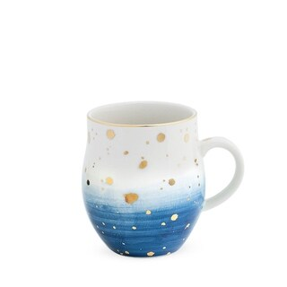Brynn Blue Speckle Ceramic Mug by Pinky Up®