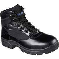 Skechers Men's Work Relaxed Fit Wascana Waterproof Boot Black