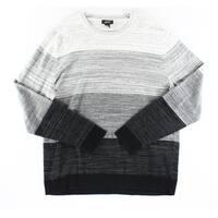 ALFANI NEW Gray Black Mens Size XL Pullover Colorblock Crewneck Sweater
