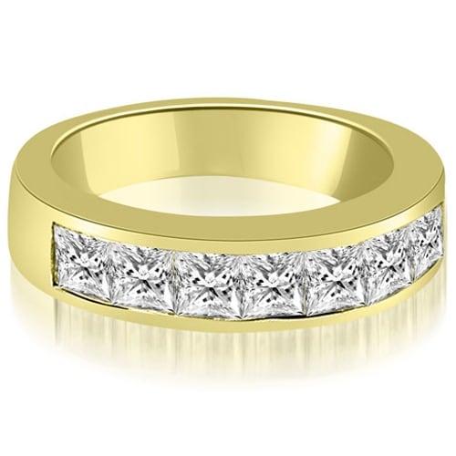 1.40 cttw. 14K Yellow Gold Channel Set Princess Cut Diamond Wedding Band