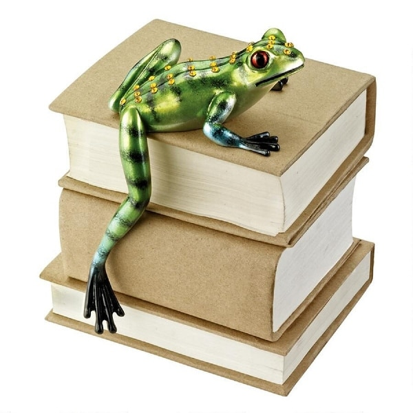 "5.5"" Book Laying Tree Frog Indoor/Outdoor Shelf Sitter - N/A"