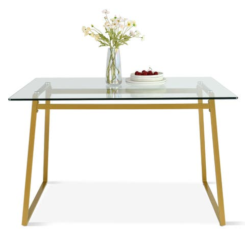 """47""""x32"""" Rectangle Modern Glass Dining table - 47""""x32""""x30"""