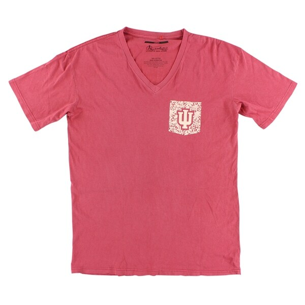 f99d5bc31 Shop Press Box Womens Indiana Hoosiers College Lace Logo V Neck T Shirt Red  - l - Free Shipping On Orders Over  45 - Overstock - 22614902