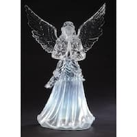 "24"" Icy Crystal LED Praying Angel Christmas Figure - CLEAR"