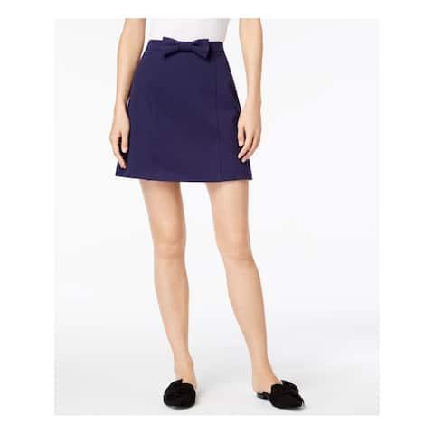 MAISON JULES Womens Navy Bowtie Mini Skirt Size XXL