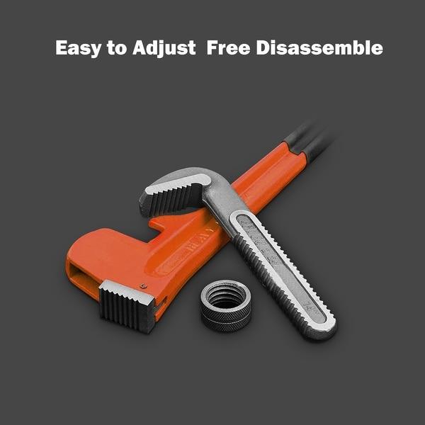 "4pc Heavy Duty Pipe Wrench Set Monkey Heat Treated Adjustable 8/"" 10/"" 14/"" 18/"" NEW"