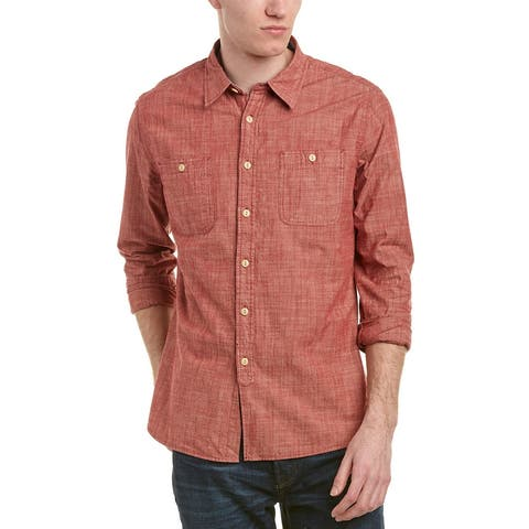 Jachs Chambray Classic Fit Woven Shirt