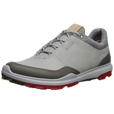 Ecco Mens Biom Hybrid 3 Concrete Scarlet Gore-Tex 41 EU 7-7.5 Golf Shoes