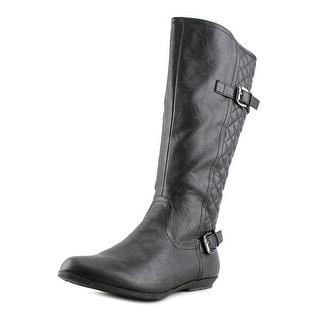 White Mountain Foxfire Women  Round Toe Synthetic Black Knee High Boot
