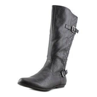 White Mountain Foxfire Women Round Toe Synthetic Black Knee High Boot
