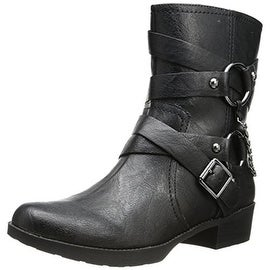 Jessica Simpson Womens Goldi Faux Leather Belted Motorcycle Boots - 5.5 medium (b,m)