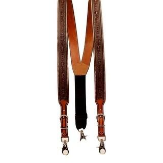 Nocona Western Suspenders Mens Tooled Adjustable Galluses Tan N8513008