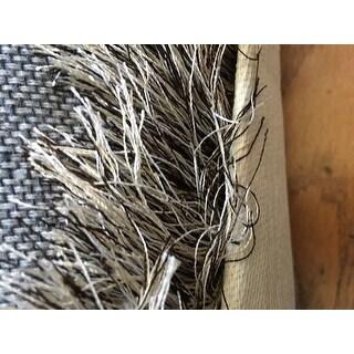 Safavieh Handmade Silken Glam Paris Shag Sable Brown Rug (6' x 9')