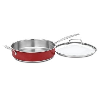 Link to Cuisinart CS33-30HMR Chef's Classic Stainless 5-Quart Saute Pan with Helper Handle and Cover, Metallic Red Similar Items in Cookware