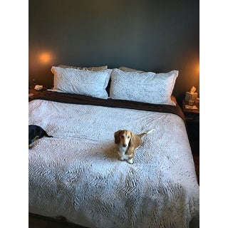 Mink Faux Fur 3 Piece Comforter and Sham Set By Windsor Home