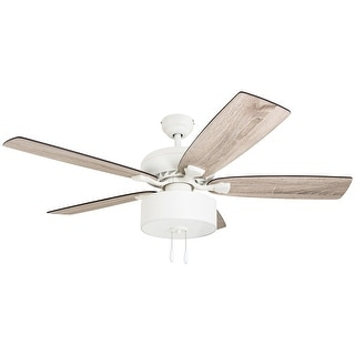 Link to The Gray Barn Theobalds 52-inch Coastal Indoor LED Ceiling Fan with Pull Chains 5 Reversible Blades - 52 Similar Items in Ceiling Fans
