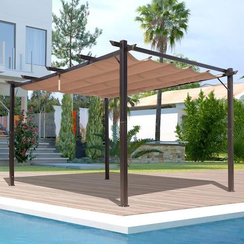 Outsunny Steel Outdoor Backyard Patio Pergola - 10' x 13'