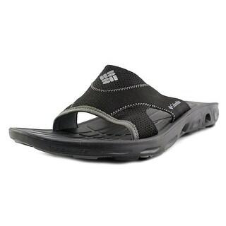 Columbia TechSun Vent Slide Men Open Toe Synthetic Black Slides Sandal