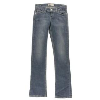Levi's Womens Juniors Demi Curve Bootcut Jeans Dark Skinny